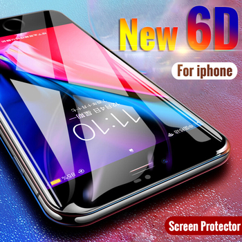 6D 6 artı Vaka Apple iphone X 8 7 6 6 s artı 10 on 8 artı 7 artı iphon6 ip6 Kapak Temperli Cam iphone 6 Için koruyucu film