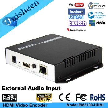 H.264 IPTV kodlayıcı HDMI Video Kodlayıcı youtube Kodlayıcı ip rtmp video kodlayıcı canlı streaming OBS/vMix/Wirecast Youtube facebook