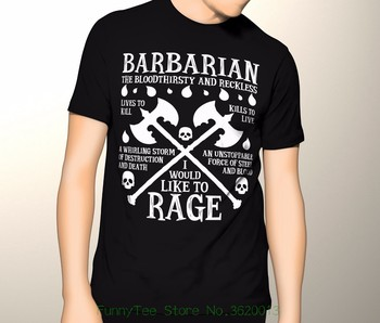 Ne Dungeons And Dragons, barbar, D & amp; D, barbar Prim Grafik T-shirt S-5xl